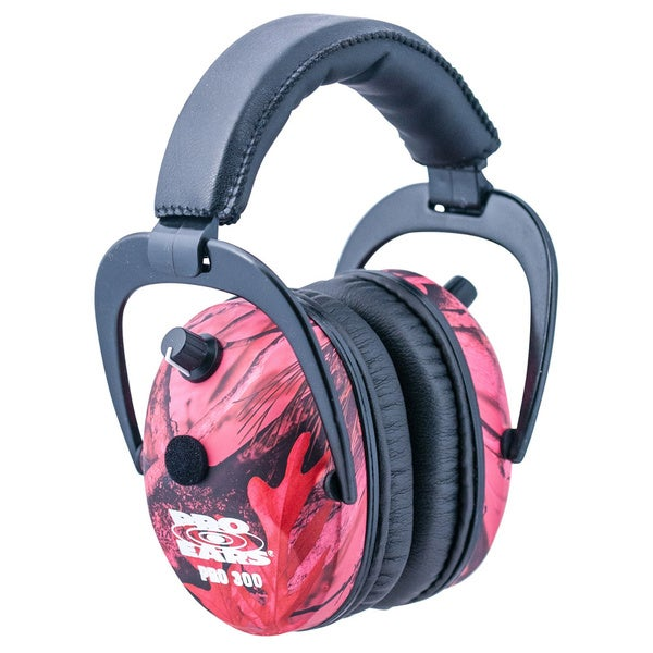 Pro 300 NRR 26 Pink Camo Electronic Ear Muffs