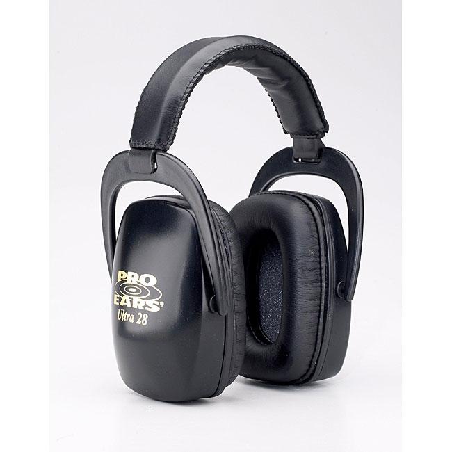 Pro Ears Ultra NRR 28 Black Lightweight Ear Muffs for Shooting