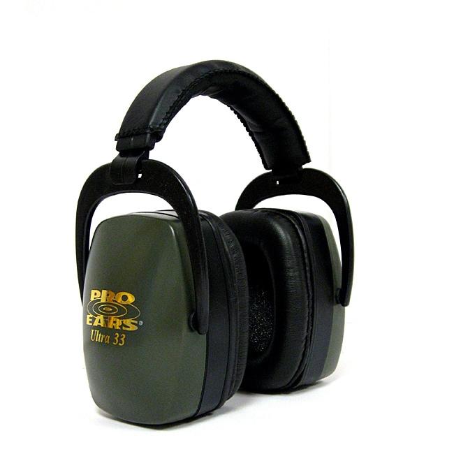 Pro Ears Ultra NRR 33 Dielectric Adjustable-headband Green Ear Muffs