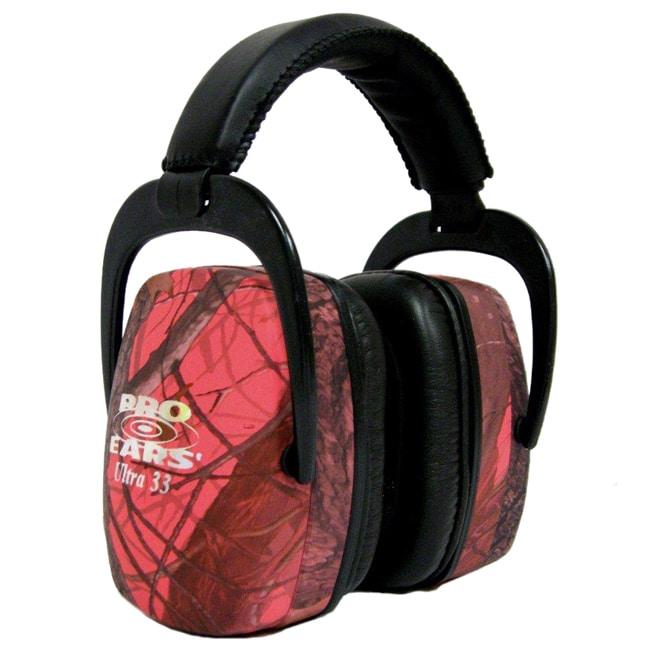 Pro Ears Ultra NRR 33 Pink RealTree Camo Earmuffs