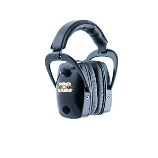 Pro Ears NRR 28 Pro Slim Gold - Electronic Hearing Protection and Amplification Black Ear Muffs