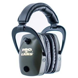 Pro Ears Pro Slim Gold NRR 28 Green Ear Muffs (WWP)
