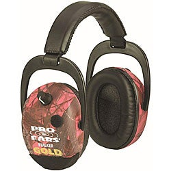 Stalker Gold NRR 25 RealTree Pink Camo Earmuffs