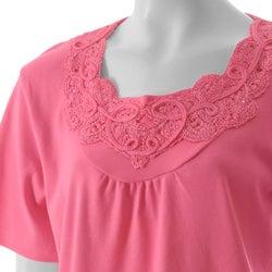 Nicole Ricci Stylish Women's Missy Embellished-Neck Top