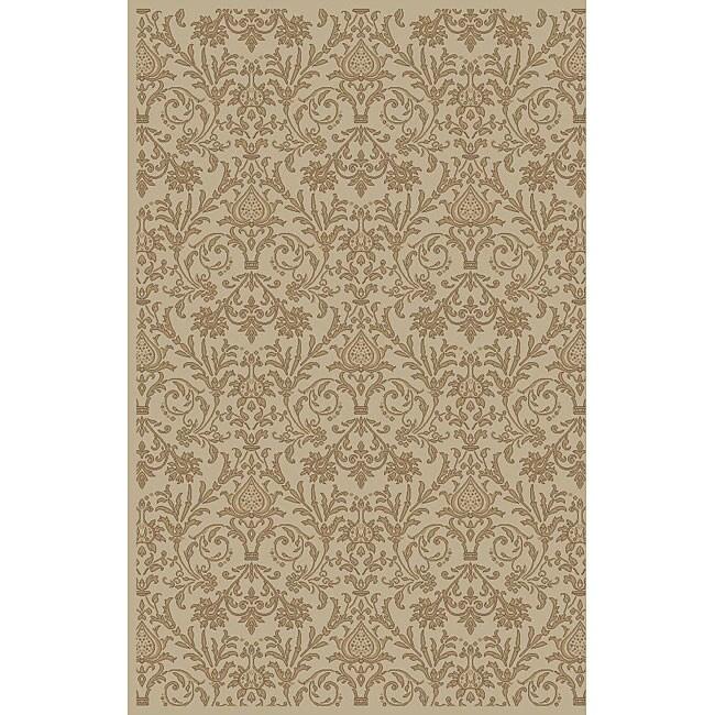 Damask Ivory Oriental Rug (7'10 x 9'10)