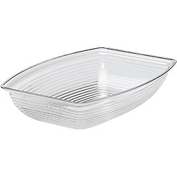 Cambro 14x19-in Clear Ribbed Salad Bowl