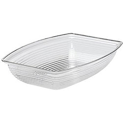 Cambro 9-in x 12-in Clear Ribbed Salad Bowl