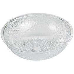 Cambro 8-in Clear Pebbled Bowl