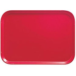 Cambro 12x16-in Red Fast Food Trays (Case of 24)