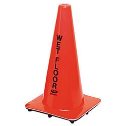 Continental Manufacturing Orange Wet Floor Cone Sign