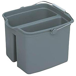 Continental Manufacturing 16-quart Grey Divided Bucket