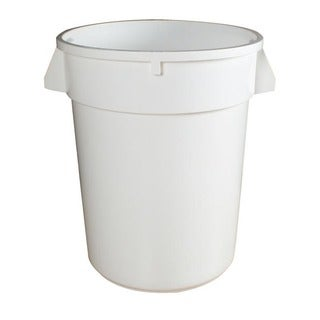 Continental Manufacturing 32-gallon Round White Huskee Container