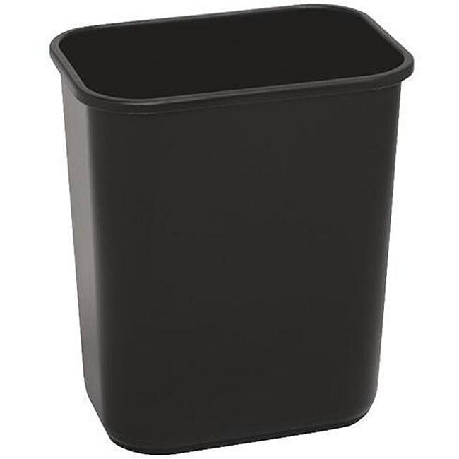 Continental Manufacturing 28.125-quart Black Wastebasket