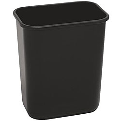 Continental Manufacturing 28.125-quart Black Wastebasket