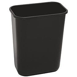 Continental Manufacturing 41.25-quart Black Wastebasket