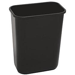 Continental Manufacturing 41.25-quart Black Wastebasket