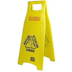 Yellow 'Closed' Sign