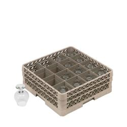 Traex 16-compartment Glass Rack with Two Extenders