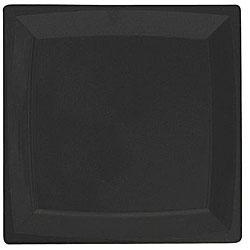 WNA Comet 6.75-in Black Square Salad Plates (Case of 168)