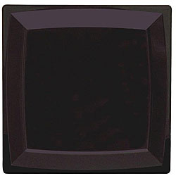 WNA Comet 8.25-in Black Square Lunch Plates (Case of 168)