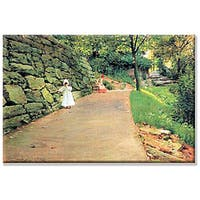 William Merritt-Chase 'In the Park - A Byway' Canvas Art