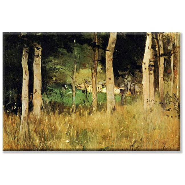 Berthe Morisot 'The Cottage Amongst the Birch Trees' 14x21-inch Canvas Art