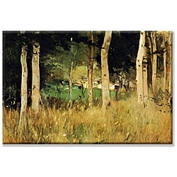 Berthe Morisot 'The Cottage Amongst the Birch Trees' 14x21-inch Canvas Art - Thumbnail 0