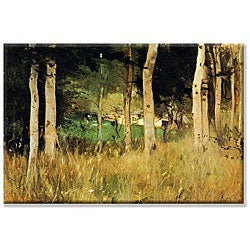 Berthe Morisot 'The Cottage Amongst the Birch Trees' Canvas Art