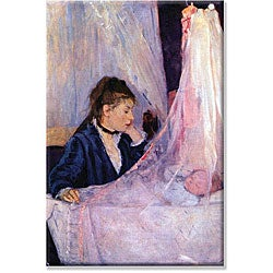 Berthe Morisot 'Mother Looks at Baby in the Cradle' 14x21-inch Canvas Art