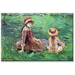 Berthe Morisot 'In the Garden' Canvas Art