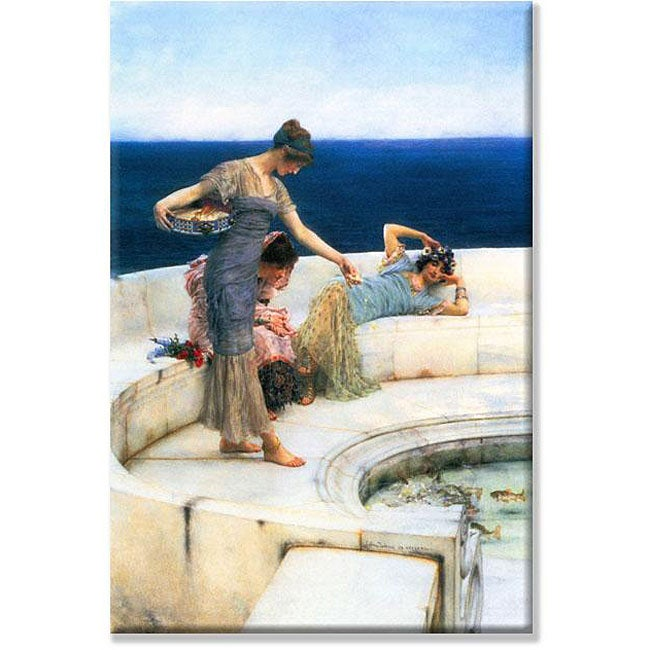 Alma-Tadema 'Silver Favorites' Small Art Print