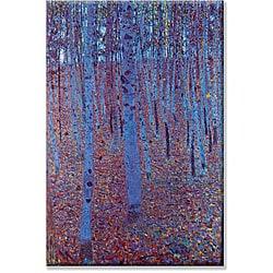 Gustav Klimt 'Beech Forest' Small Art Print - Thumbnail 0