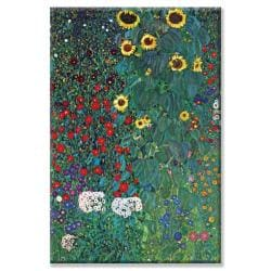 Gustav Klimt 'Flowers' Small Art Print