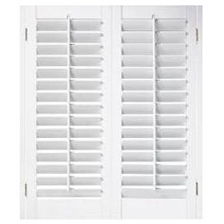 "White Fauxwood Shutters 23"" (fits up to 25"" window) x 48"""