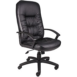Boss High Back LeatherPlus Bonded Leather Task Chair