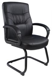 Boss Mid-Back LeatherPlus Bonded Leather Guest Chair
