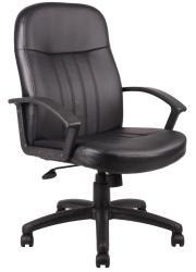 Boss Executive Black Bonded Leather Chair - Thumbnail 2
