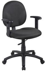 Boss Wide Seat Adjustable Arm Task Chair - Thumbnail 1