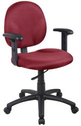 Boss Wide Seat Adjustable Arm Task Chair - Thumbnail 2