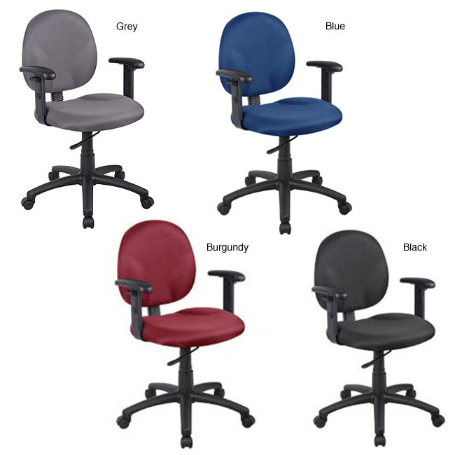 Boss Wide Seat Adjustable Arm Task Chair