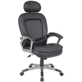 Boss Executive Pillow Top Chair with Headrest