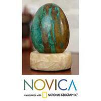 Chrysocolla 'Green Sea' Sculpture  , Handmade in Peru