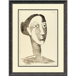 Pablo Picasso 'Head of a Woman with a Chignon' Framed Art Print