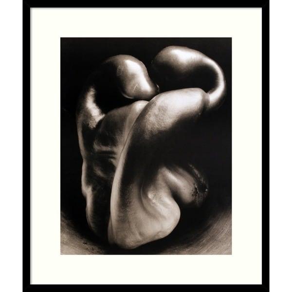 Edward Weston 'Pepper No. 30' Framed Art Print