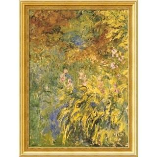Framed Art Print 'Irises' by Claude Monet 25 x 33-inch
