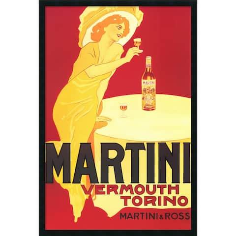 Framed Art Print Martini - Vermouth Torino 26 x 38-inch