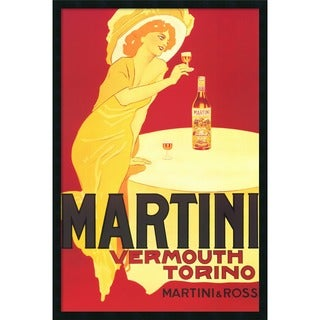Martini - Vermouth Torino' Framed Art Print with Gel Coated Finish