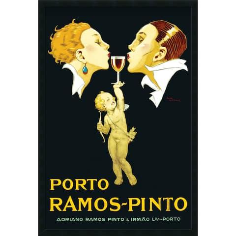 Framed Art Print Porto Ramos-Pinto by Rene Vincent 26 x 38-inch