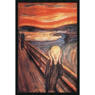 Framed Art Print The Scream, 1893 by Edvard Munch 26 x 38-inch