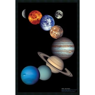 NASA Solar System' Framed Art Print with Gel Coated Finish
